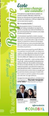 """""""Ecolo, ça vous change une commune !"""" – Respire mars 2012"""